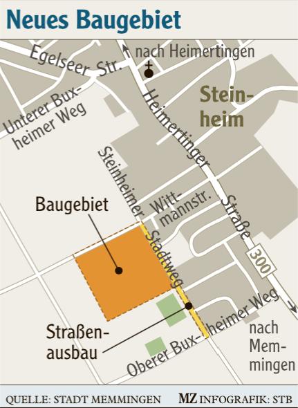 Baugebiet S22 Steinheims Stadtweg